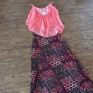 Body Central Maxi Skirt and Fringe Top NWT